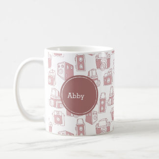 Vintage Cameras Personalized Coffee Mug