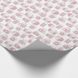 Vintage Cameras Retro Pattern (White / Pink) Wrapping Paper