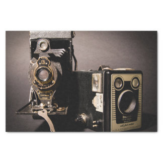 vintage cameras tissue paper