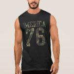 Vintage Camouflage 'Merica Est. 1776 Sleeveless T-shirts