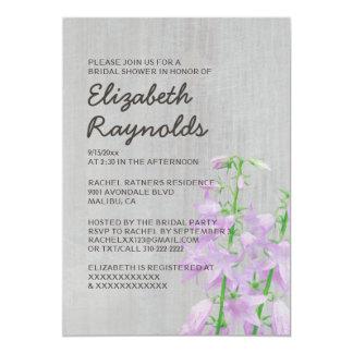 Vintage Campanula Bridal Shower Invitations