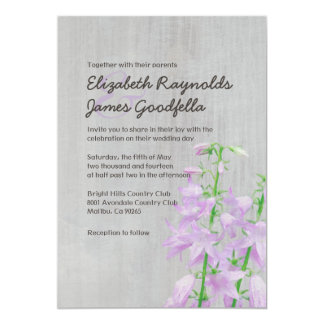 Vintage Campanula Wedding Invitations
