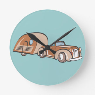 Vintage Camper and Auto Wall Clock