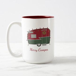 Vintage Camper Christmas Holiday Mug