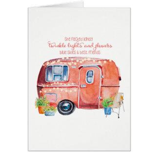 Vintage Camper Greeting Card