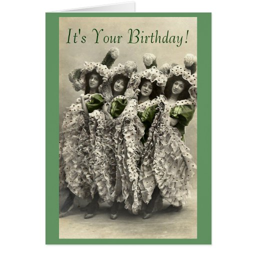 Vintage Can Can Humor Birthday Card