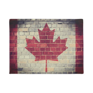 Vintage Canada flag Doormat