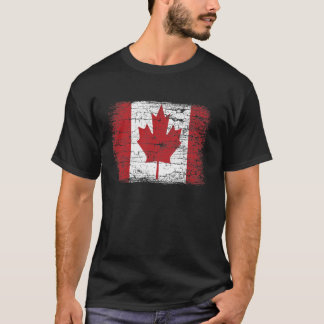 Vintage Canada Flag Men's T Shirt design.