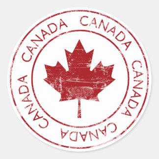 Vintage Canada Round Sticker
