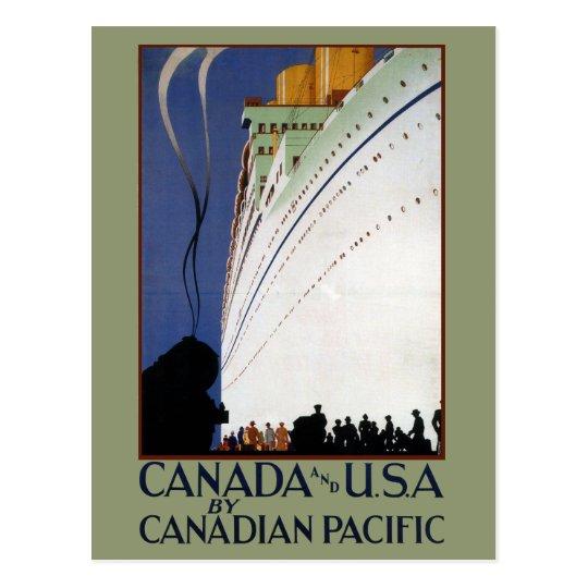 Vintage Canadian Cruise Lines Travel Postcard