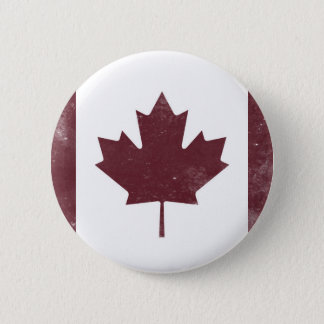 Vintage Canadian Flag 2 Inch Round Button