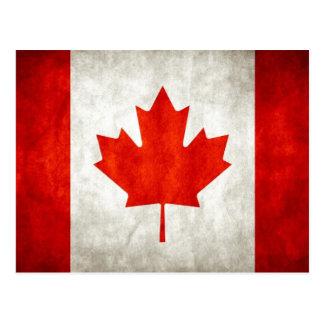 Vintage Canadian Flag Postcard