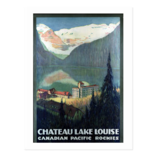 Vintage Canadian Pacific Rockies Lake Louise Postcard