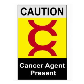 Vintage Cancer Safety Sign Postcard
