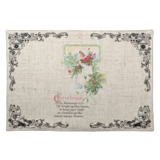 Vintage Candle Christmas Placemats