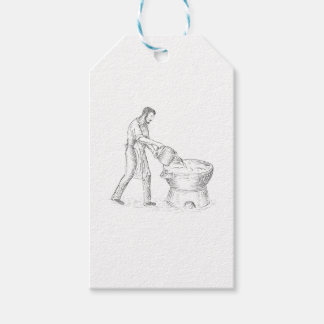 Vintage Candlemaker Foundry Drawing Gift Tags