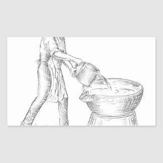 Vintage Candlemaker Foundry Drawing Sticker