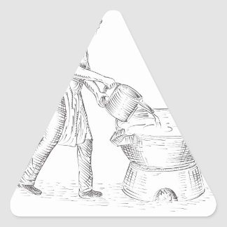 Vintage Candlemaker Foundry Drawing Triangle Sticker