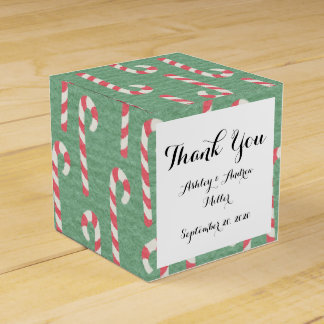 Vintage Candy Canes Pattern Favor Box