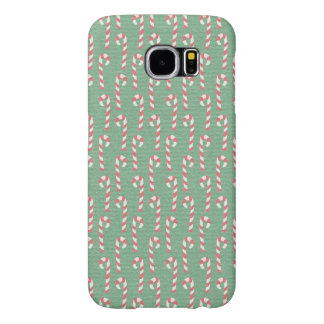 Vintage Candy Canes Pattern Samsung Galaxy S6 Cases
