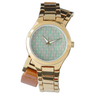 Vintage Candy Canes Pattern Wristwatches