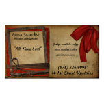 Vintage Candy Frames in Red Business Card