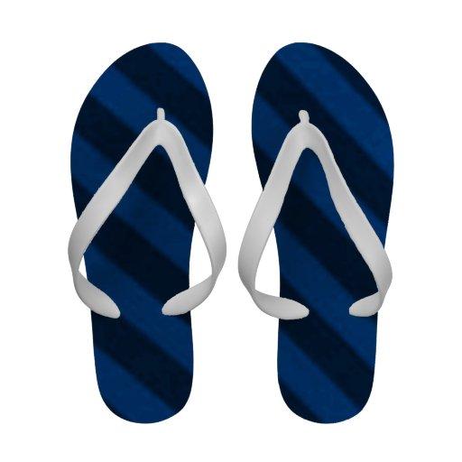 Vintage Candy Stripe Sapphire Blue Grunge Sandals