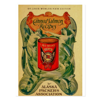 Vintage Canned Salmon Postcard