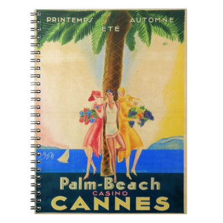 Vintage Cannes French Travel Spiral Note Books