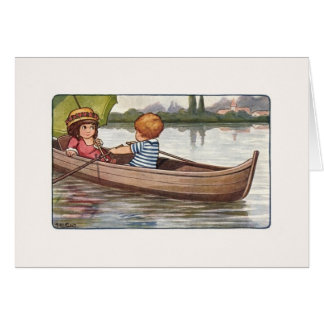 Vintage Canoe Ride Note Card