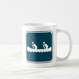 Vintage Canoe Sign Coffee Mug