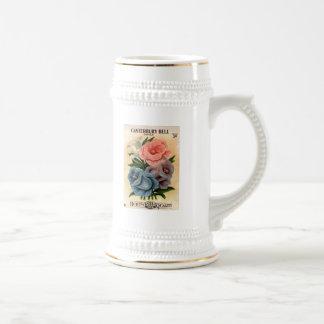 Vintage Canterbury Bells Flower Seed Packet Beer Stein