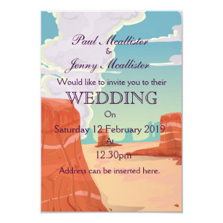 Vintage Canyon drink Wedding invite