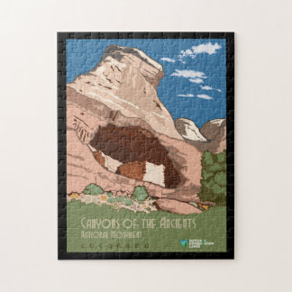 Vintage Canyons of the Ancients National Monument Jigsaw Puzzle