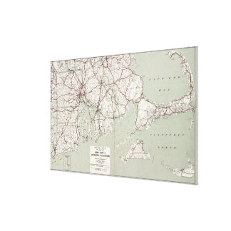 Vintage Cape Cod and Rhode Island Map (1917) Canvas Print