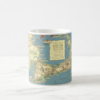 Vintage Cape Cod Map (1940) Coffee Mug