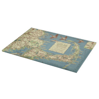 Vintage Cape Cod Map (1940) Cutting Board