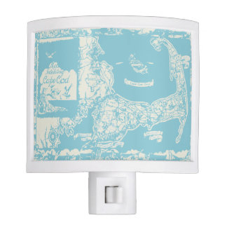 Vintage Cape Cod Map Night Lights