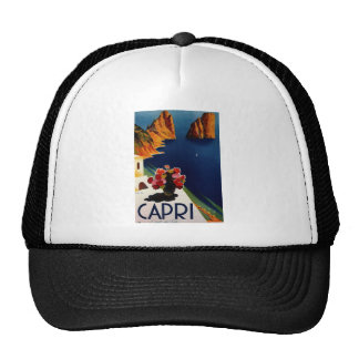 Vintage Capri Italy Travel Trucker Hat