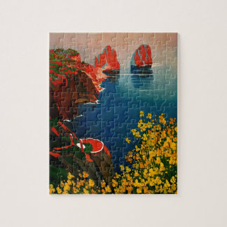 Vintage Capri L'Isola del Sole Italy Jigsaw Puzzle