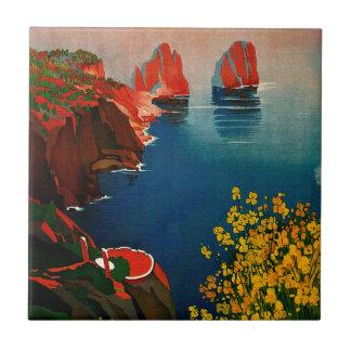 Vintage Capri L'Isola del Sole Italy Tiles