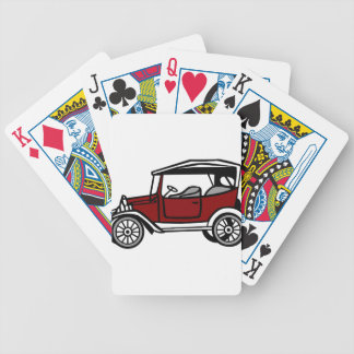 Vintage Car Automobile Old Antique Vehicle Auto Bicycle Playing Cards