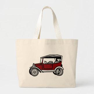 Vintage Car Automobile Old Antique Vehicle Auto Large Tote Bag