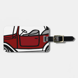 Vintage Car Automobile Old Antique Vehicle Auto Luggage Tag