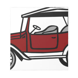 Vintage Car Automobile Old Antique Vehicle Auto Notepad