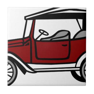 Vintage Car Automobile Old Antique Vehicle Auto Tile
