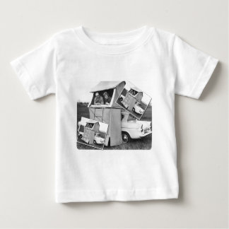 Vintage Car Camping Caravan Baby T-Shirt