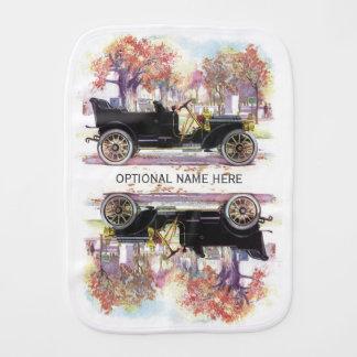 Vintage car custom burp cloth