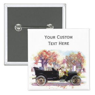 Vintage car custom button