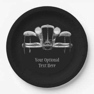 Vintage car custom paper plates